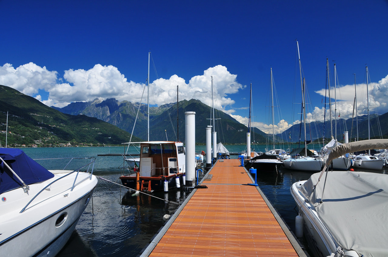 Bootfahren am Comer See liegeplatze