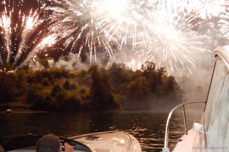 Feuerwerk Comacina Insel Comer See