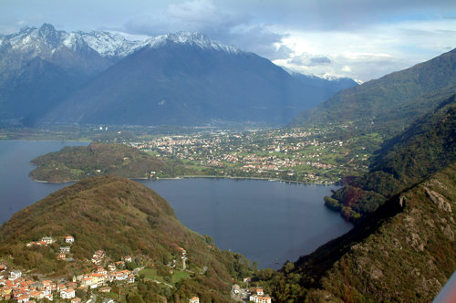 Origins of the lake Como
