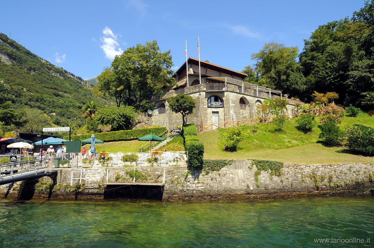 Insel Comacina Comer see